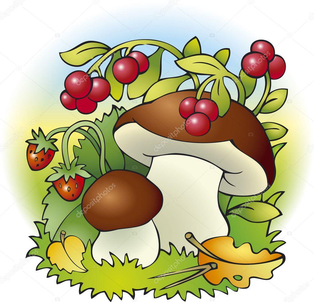картинки с грибами и ягодами на рабочий стол