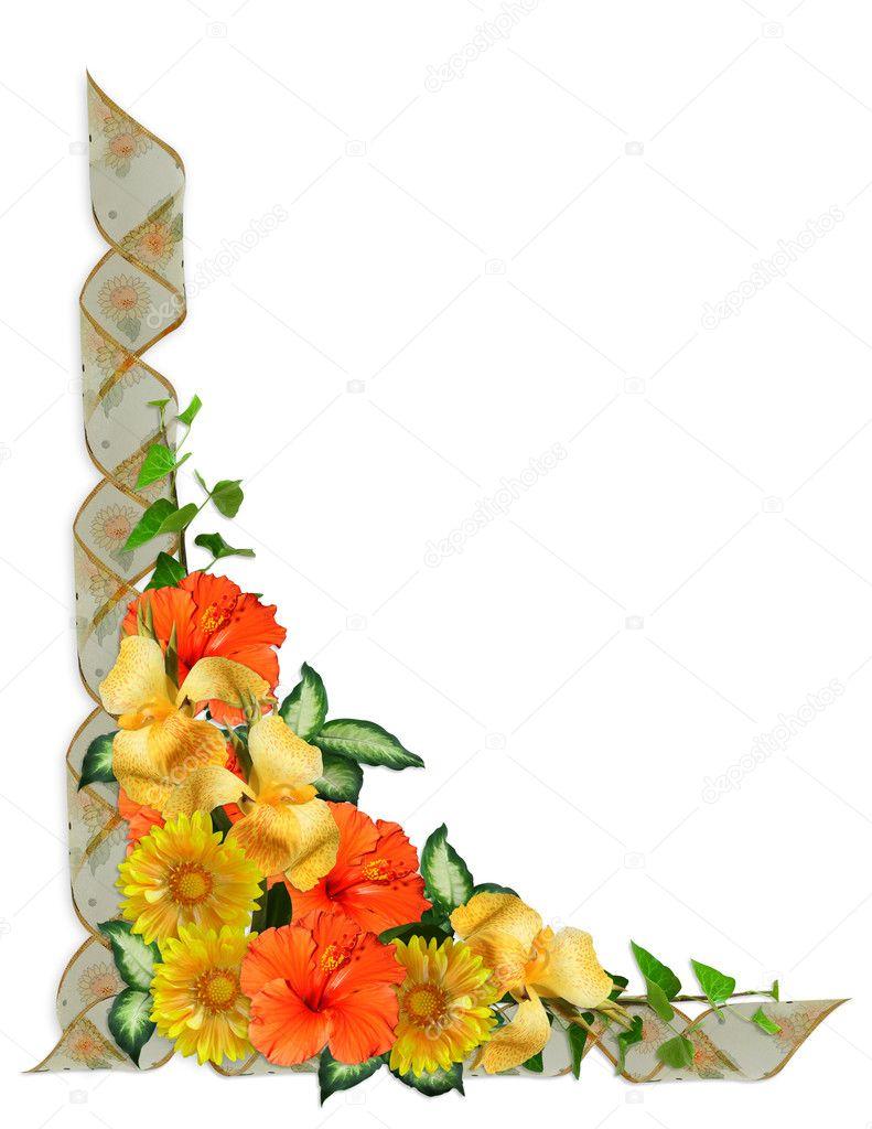 bordure de fleurs tropicales photographie irisangel. Black Bedroom Furniture Sets. Home Design Ideas