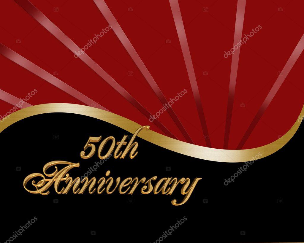 50th Anniversary invitation — Stock Photo © Irisangel #3179476