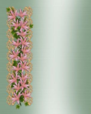 Wedding invitation elegant lilies