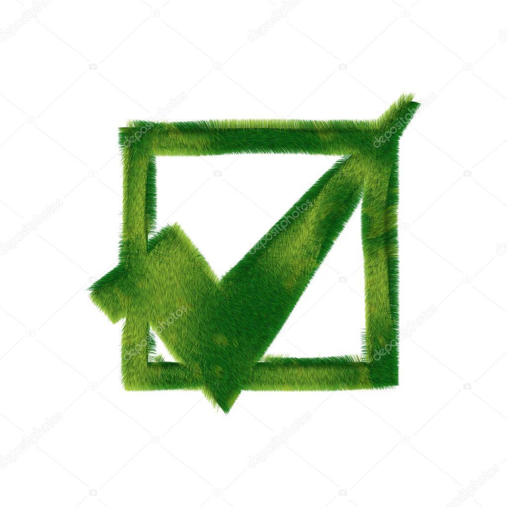 Check Mark Ecological Symbol Stock Photo Drepository 2729938