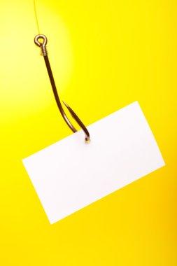 Empty piece of paper On Hook