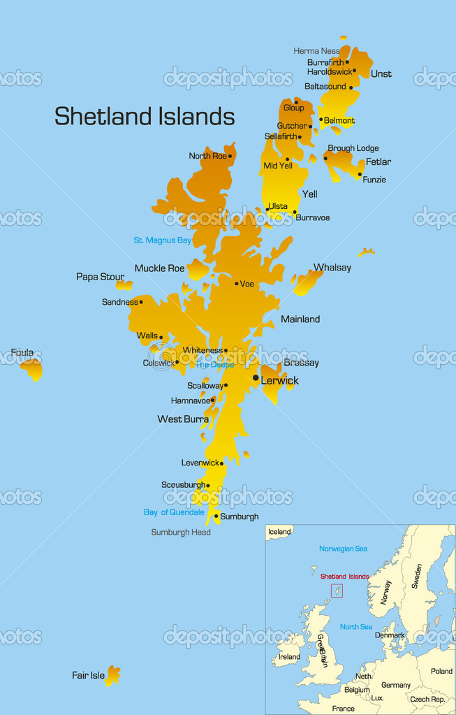 Shetland Islands — Stock Vector © olinchuk #2756023
