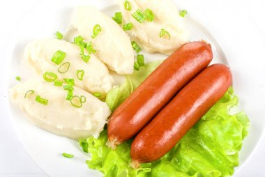 Cutlets from potato and sausage