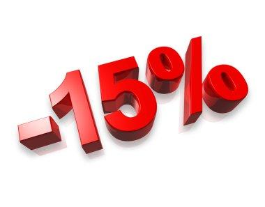 15% fifteen percent