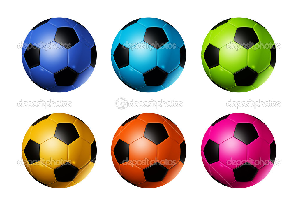 Кольорові футбольні м ячі футбольні — Стокове фото — яйця © daboost ... 328ad95f0e661