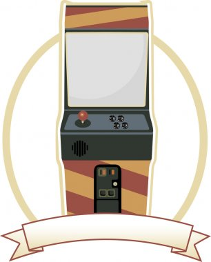 Old fashion gaming machine in brown monotone colors vector stock vector