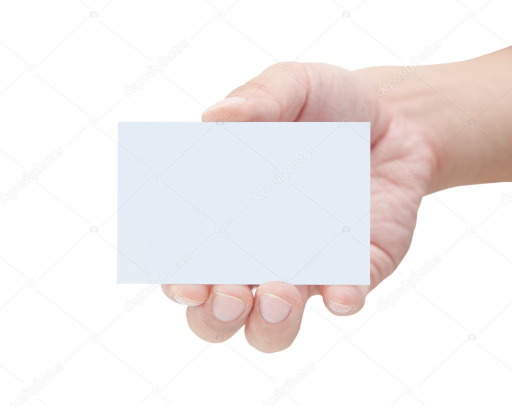 Blank Business Card In Hand — Stock Photo © santorini #3829916