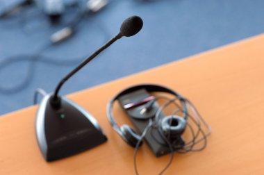 Microphone and translator