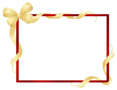 Frame with ribbons and bow