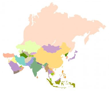 Map of asia.