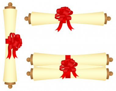 Scrolls with a bow