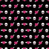Totenköpfe und Herzen