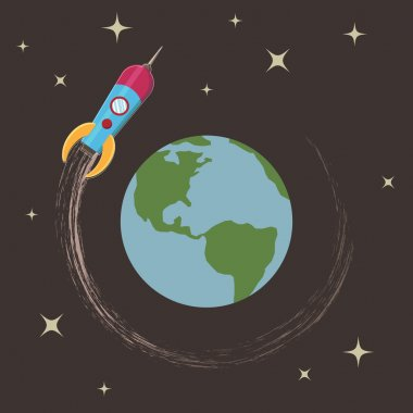Rocket around the earth