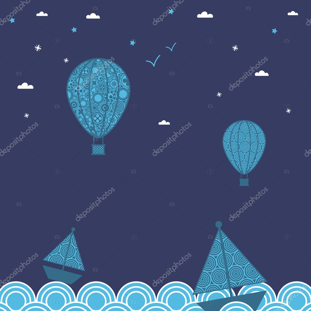 Boats and balloons