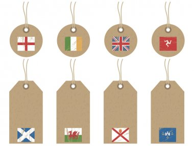 British isles flag tags
