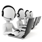 Fényképek 3D-s ember - call center