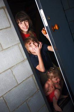 Three cheerful children