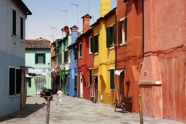 Multi-coloured houses