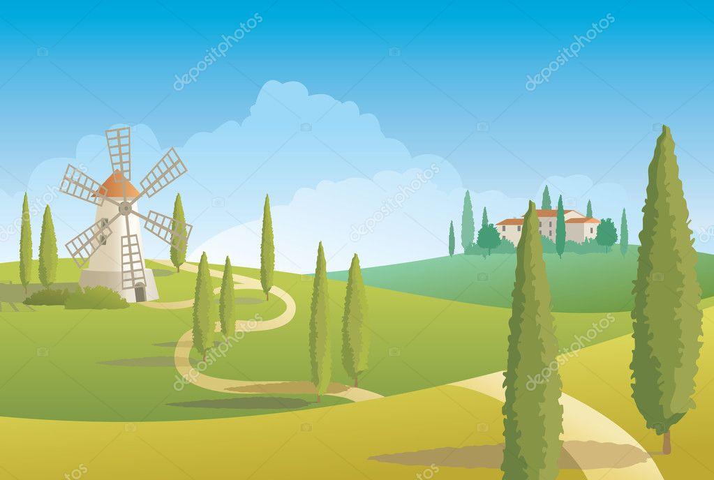 Italian countryside landscape