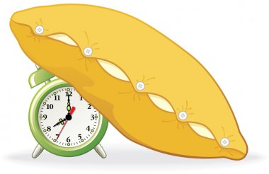 Alarm covered with pillow