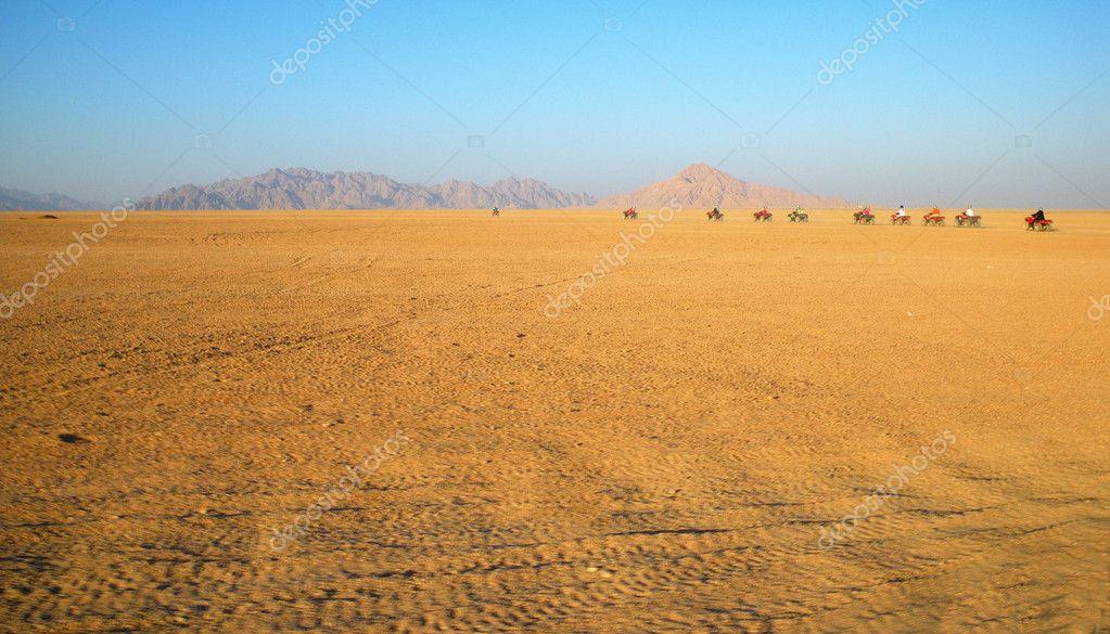 Rally in desert