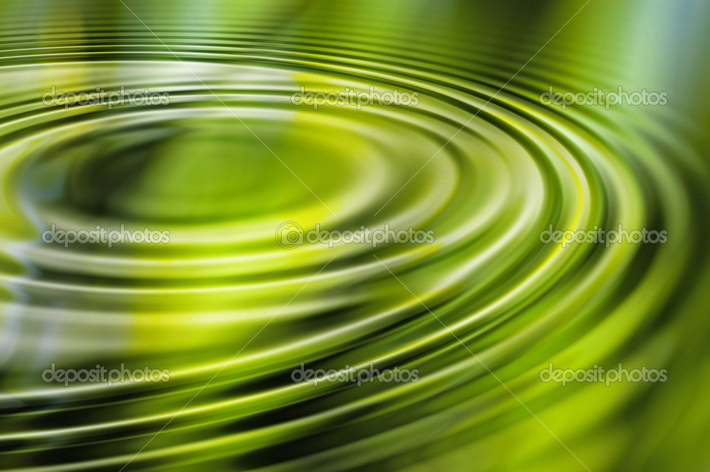 Computer generated water ripple with overall green color scheme