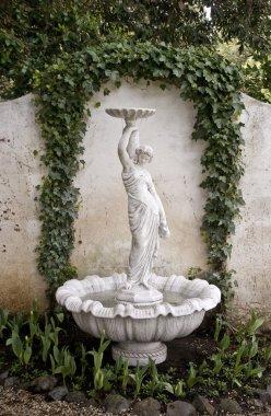 Garden fountain statue