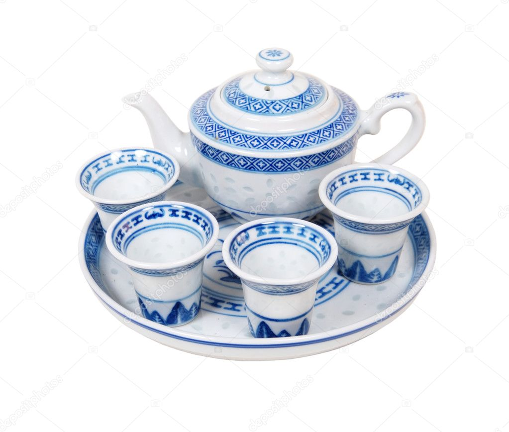 A tea set. What is included in the set for the tea ceremony 7