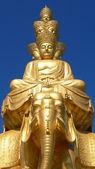 Socha Buddhy se zlatem