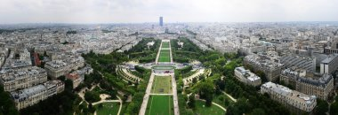 Panorama with Eiffel Tower, south-east