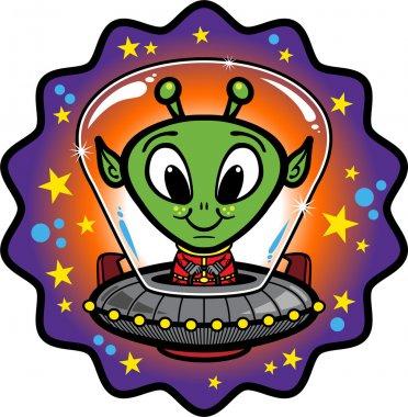 Friendly Alien In UFO