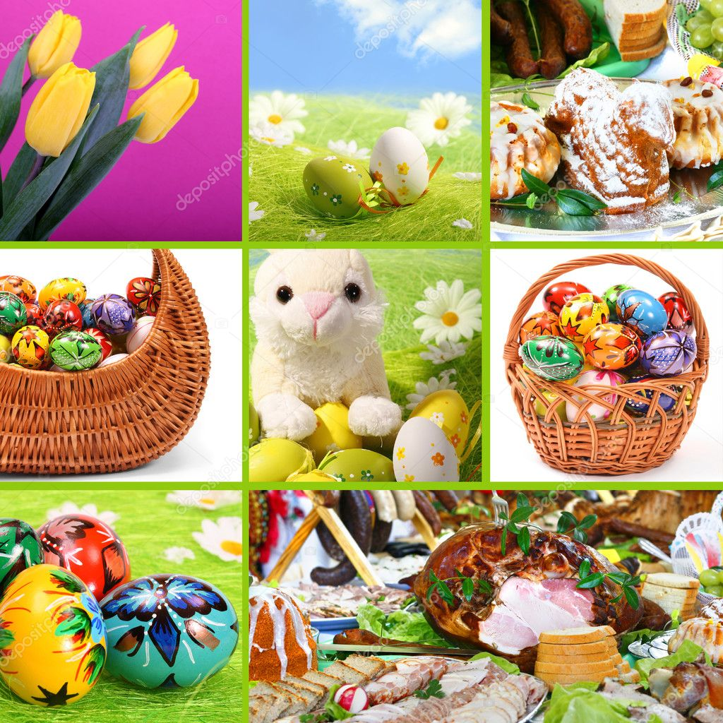 Traditional Easter - themed collage