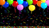 Fotografie Party-Ballons-Hintergrund