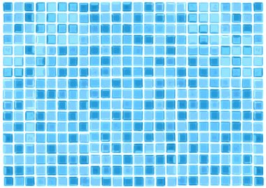 Vector Seamless Blue Tiles Background