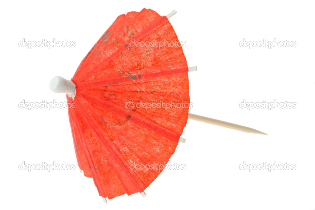 Red Asian Cocktail Umbrella U2014 Stock Photo