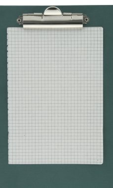 Squared paper stuck to a clipboard