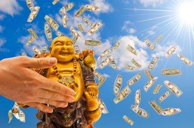 Feng shui. buddha against a sky.