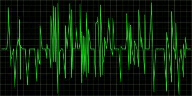 Green Waveform. Vector