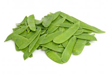 Pile of fresh snow peas
