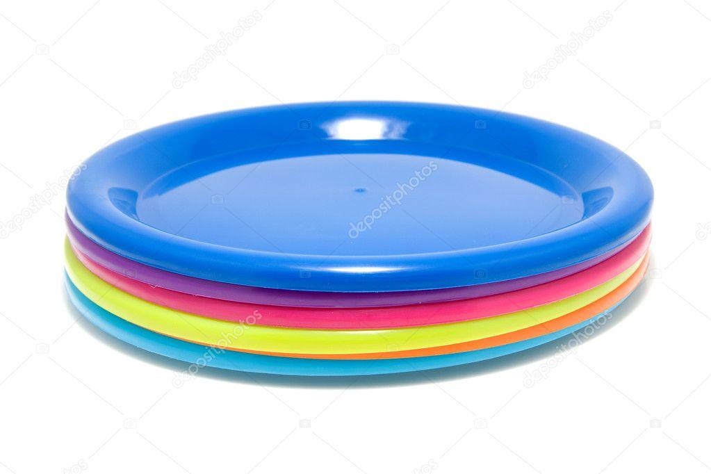 Colorful plastic plates u2014 Stock Photo  sc 1 st  Depositphotos & Colorful plastic plates u2014 Stock Photo © sannie32 #2925635