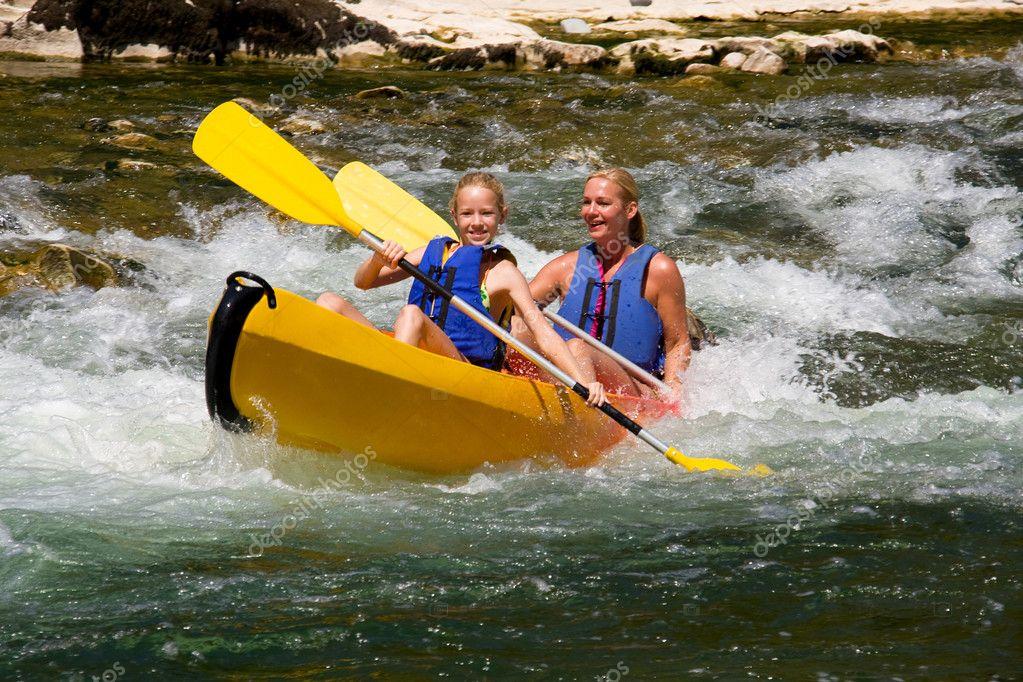 Two in canoe
