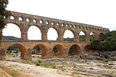 View of Pont Du Gard in France