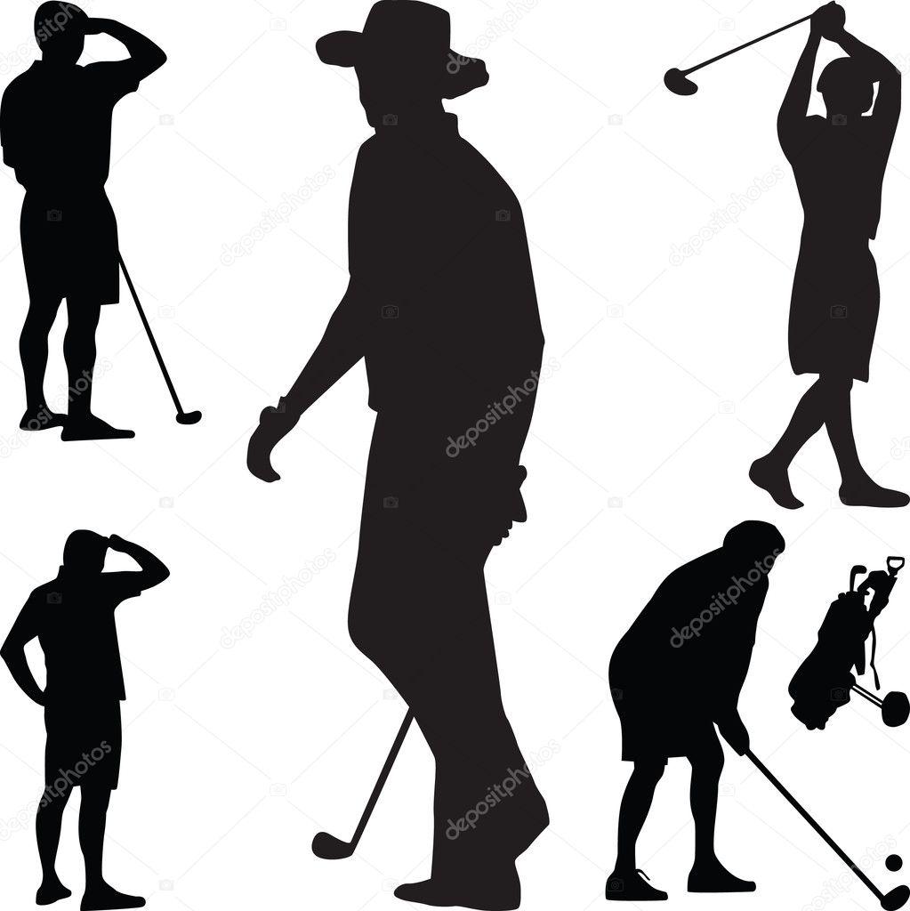 Golf Silhouette Vektor Stockvektor C Photos 3103412