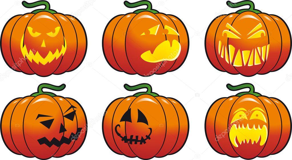 halloween pumpkin vector — stock vector © abrakadabra #3810857