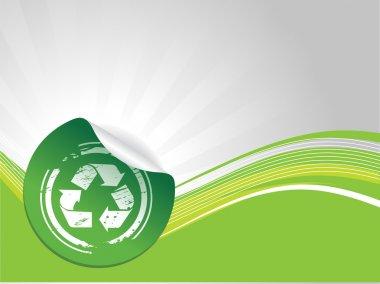 Grunge recycling symbol
