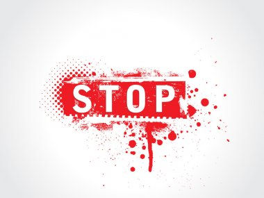 Stop grunge text