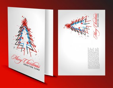 Christmas greeting card with presentation design. clip art vector