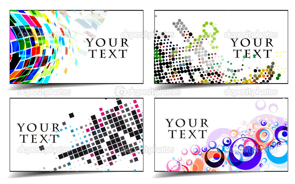 Business & gift cards design — Stock Vector © redshinestudio #4472040