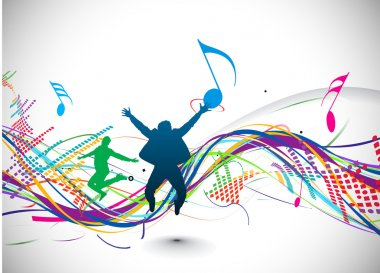 Abstract music notes design